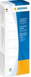 Herma Komputerowe etykiety, 1-lane, 88,9 x 23,0 mm, biały, matowy papier, 2000 sztuk (8160)