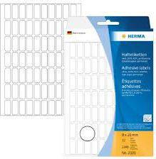 Herma Etykiety samoprzylepne, białe 8x20 mm 2240 St. - 2320