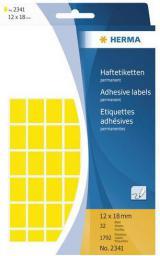 Herma Etykiety samoprzylepne żółte 12x18 mm 1792 Szt. - 2341