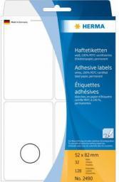 Herma Etykieta biały papier matowy, 128 sztuk  (2490)