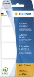 Herma papier do etykiet 67x35 mm (4302)