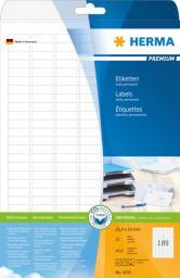 Herma Etykiety Premium A4, białe, papier matowy, 4725 szt., zaokrąglone narożmiki (4333)