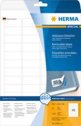 Herma Etykiety odklejalne Movables A4, białe, papier matowy, 1200 szt. zaokrąglone narożniki. (4346)