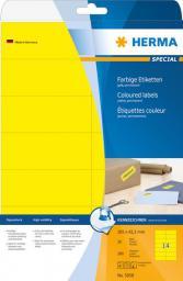 Herma Etykiety kolorowe A4, papier matowy żółty, 280 szt (5058)