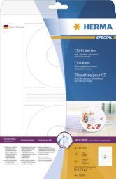 Herma Etykiety samoprzylepne na CD, białe, okrągłe, papier matowy, 50 szt (5079)