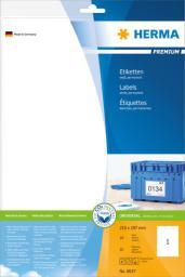 Herma Etykiety Premium 8637, A4, białe, 210 x 297 mm, papier matowy, 10 szt. (8637)