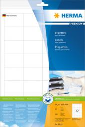 Herma Etykiety Premium 8643, A4, białe, 48,3 x 33,8 mm, papier matowy, 320 szt.  (8643)