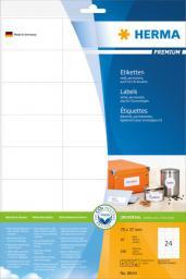 Herma Etykiety Premium 8644, A4, białe, 70 x 37 mm, papier matowy, 240 szt. (8644)