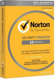 Symantec Norton Security Premium 3.0 PL 1 Użytkownik 10 Urządzeń 1 Rok (21357597)