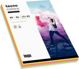 Tecno Papier ksero A4 80g Mix kolorów pastel 100 arkuszy