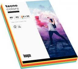 Tecno Papier ksero A4 80g Mix kolorów intense 100 arkuszy