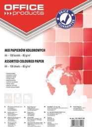 Office Products Papier ksero A4 80g mix kolorów 100 arkuszy