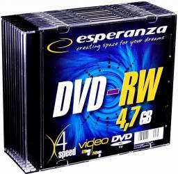 Esperanza DVD-RW/10szt./Slim 4.7GB 4x