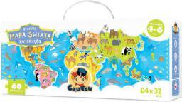 Czuczu CZUCZU Puzzle mapa świata zwierzęta - 6399
