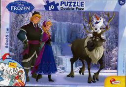 Lisciani Puzzle dwustronne, 60el - Frozen (49295)
