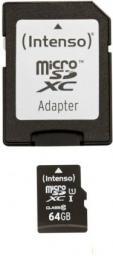 Karta Intenso MicroSDXC 64 GB Class 10 UHS-I/U1  (3423490)