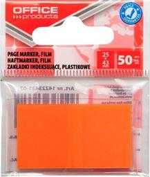 Office Products Zakładki indeksujące OFFICE PRODUCTS, PP, 25x43mm, 1x50 kart., zawieszka, pomarańczowe