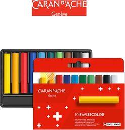 Caran d`Arche Kredki woskowe CARAN D'ACHE Swisscolor, kartonowe pudełko, 10 szt.