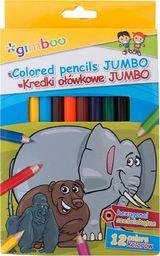 Gimboo Kredki ołówkowe GIMBOO Jumbo, sześciokątne, 12szt., mix kolorów