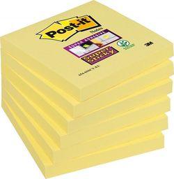 Post-it Karteczki samoprzylepne POST-IT Super Sticky (654-6SSCY-EU), 76x76mm, 1x90 kart., żółte