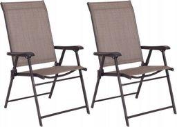 Costway Krzesła ogrodowe zestaw 2 szt.