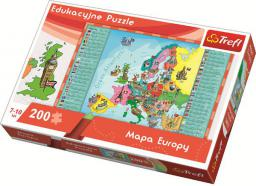 Trefl Puzzle 200el. Mapa Europy dla dzieci 15503