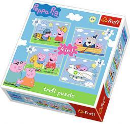 Trefl TREFL 4w1 Peppa  podróże - 34246