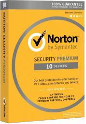 Symantec Norton Security Premium 3.0 PL 1 Użytkownik 10 Urządzeń 1 Rok ESD (21358346)