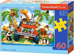 Castorland Puzzle Pluszaki na Safari 60 elementów (06793)