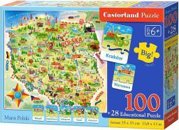 Castorland Puzzle Edukacyjne Mapa Polski 100EL. (E-142)
