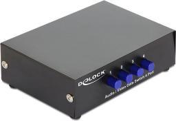 Delock RCA 1x4/4x1, czarny - 87637