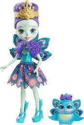 Mattel Enchantimals Lalka ze zwierzątkiem Paw (FXM74)