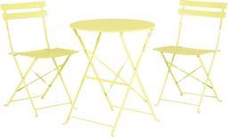 Beliani Zestaw mebli balkonowych metalowy limonkowy FIORI