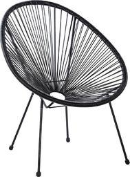 Beliani Krzesło rattanowe czarne ACAPULCO II