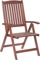 Beliani Krzesło ogrodowe drewniane TOSCANA (5166)