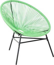 Beliani Krzesło rattanowe zielone ACAPULCO