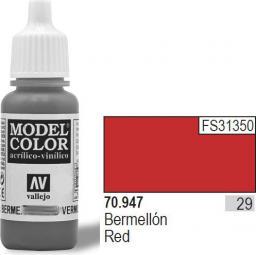 Vallejo VALLEJO Farba Nr29 Vermillion Matt 17ml - 70947