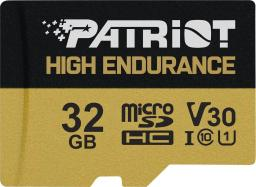 Karta Patriot EP High Endurance MicroSDHC 32 GB Class 10 UHS-I/U3 V30 (PEF32GE31MCH)