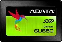 "Dysk SSD ADATA Ultimate SU650 256 GB 2.5"" SATA III (ASU650SS-256GT-R)"
