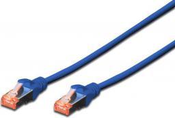 Digitus Patchcord krosowany, S/FTP,  Cat6,   0.5m, niebieski (DK-1644-005/B)