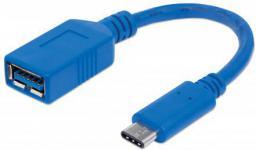 Kabel USB Manhattan USB C -> USB A 0.15m (353540)