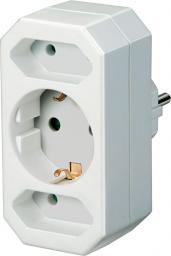 Brennenstuhl Adapter zasilania Typ E / 2x Typ C, Typ F (1508050)