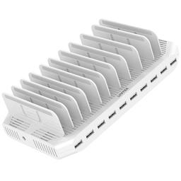 Ładowarka Unitek 10 portów USB 96W Biała (Y-2172)