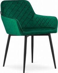 Mufart Krzeso MOMA - aksamit zielony / nogi czarne x 2