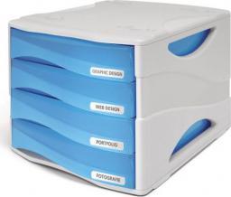 Arda Organizer Smile niebiesko-biały 4 szuflady (TR15P4PBL)