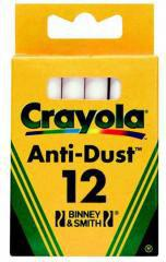 Crayola CRAYOLA Kreda niepyląca biała 12 szt. - 0280