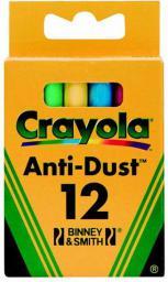 Crayola CRAYOLA Kreda niepyląca kolorowa 12 szt. - 0281