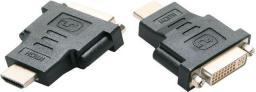 Adapter AV Gembird HDMI - DVI-I czarny (A-HDMI-DVI-3)