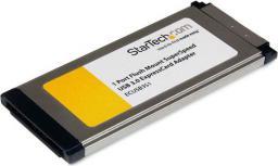 Adapter USB StarTech USB- Express Card Srebrny (ECUSB3S11)