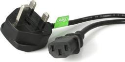 Kabel zasilający StarTech BS 1363 - C13 UK 3m czarny (PXT101UK3M)